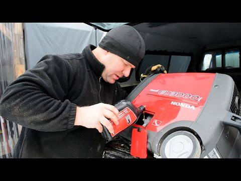 How to do a Honda generator oil change